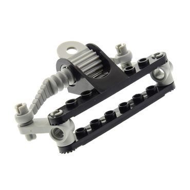 1 x Lego brick black Technic Model Steering Rack Top with light gray Technic, Steering Gear Holder / Technic, Steering Rack 4261 2791 2790 2792