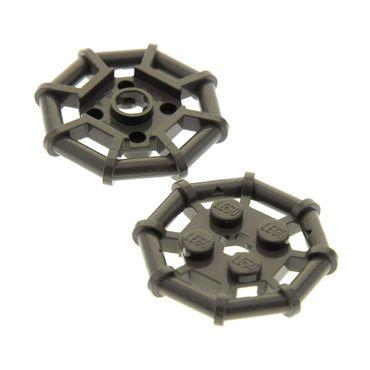 2 x Lego System Gitter Platte alt-dunkel grau 2 x 2 Octagonal Platte Rahmen Spinnen Netz Noppen abgeflacht 6289 6290 30033