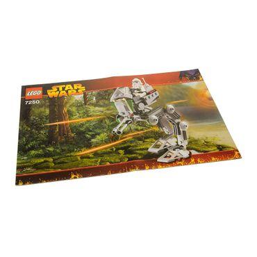 1 x Lego System Bauanleitung  A5  für Set Star Wars Episode 3 Clone Scout Walker 7250