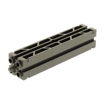 1 x Lego brick dark gray Support 2 x 2 x 8 with Grooves and Top Peg, Lattice on 2 Sides 1381 30646a