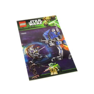 1 x Lego System Bauanleitung  A5  für Star Wars Clone Wars AT-RT 75002