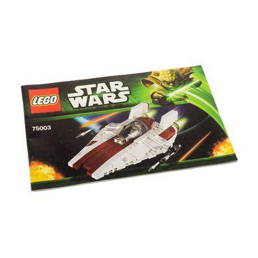 1 x Lego System Bauanleitung  A5  für Star Wars Episode 4/5/6 A-wing Starfighter 75003