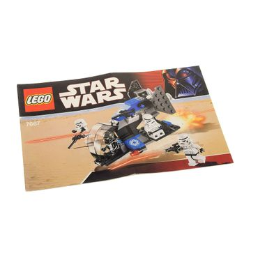 1 x Lego System Bauanleitung A5  für Star Wars Expanded Universe Imperial Dropship 7667