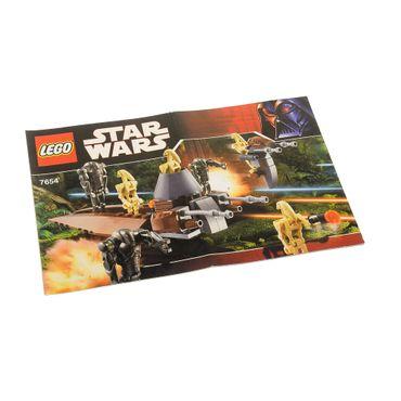 1 x Lego System Bauanleitung  A5  für Star Wars Episode 3 Droids Battle Pack 7654
