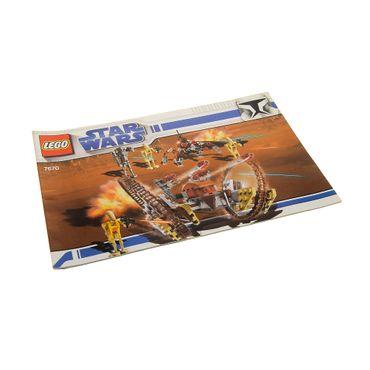 1 x Lego System Bauanleitung  A5  für Star Wars Clone Wars Hailfire Droid & Spider Droid, Clone Wars (White Box) 7670
