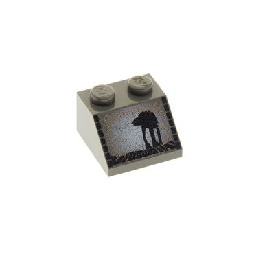 1 x Lego brick dark gray Slope 45 2 x 2 with SW AT-AT Pattern (Printed) 7130 3039px11
