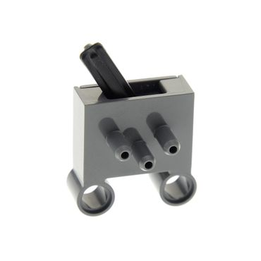 1 x Lego brick dark bluish gray Pneumatic Switch with Pin Holes Typ1 8110 8285 8436 4237158 4694bc01