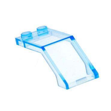 1 x Lego System Windschutzscheibe transparent medium hell blau 5x2x1 2/3 Kanzel Cockpit Kuppel Fenster für Set Star Wars Ninjago 6070