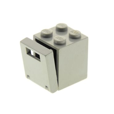 1 x Lego brick light gray Container, Box 2 x 2 x 2 with light gray Container, Box 2 x 2 x 2 Door with Slot 30060 4346 4345a