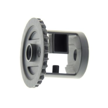 1 x Lego brick dark bluish gray Technic, Gear Differential with Inner Tabs and Closed Center, 28 Bevel Teeth 62821b
