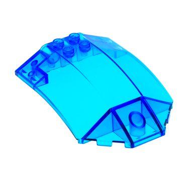 1 x Lego System Windschutzscheibe transparent dunkel blau 8x6x2 windscreen Cockpit Kanzel Kuppel Fenster Set 5974 5979 5980 x224