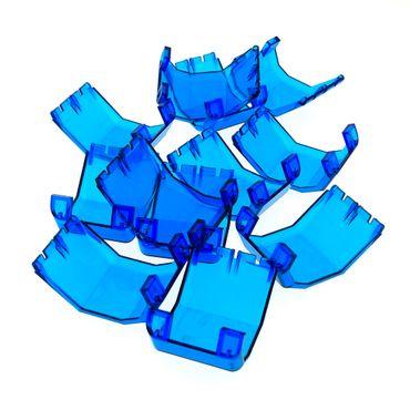 12 x Lego System Windschutzscheibe B-Ware abgenutzt transparent dunkel blau 4x4x4 1/3 Helikopter Flugzeug Fenster Scheibe Cockpit Space Exploriens 6899 2483