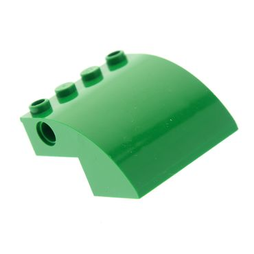 1 x Lego brick green Slope Curved 4 x 4 x 2 with Holes 70805 60022 7734 61487