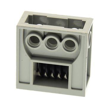 1 x Lego Technic Getriebe Halter alt-hell grau 2x4x3 1/3 mit Gewinde Schnecke lang Achs Loch Zahnrad Box Gearbox Set 8286 8485 8280 4716 6588 32239