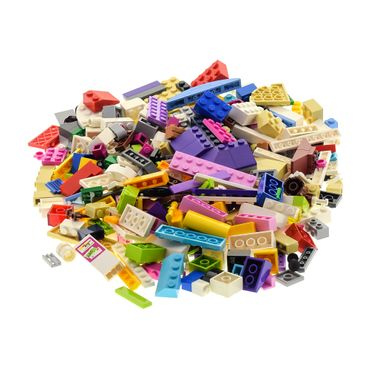 200 parts Lego brick Stones Basic Special Stones Kiloware 0,30 kg special stones colors mixed e.g. pink beige azure blue white violet red yellow pink supplement for Lego Friends Lego Elves – Bild 2