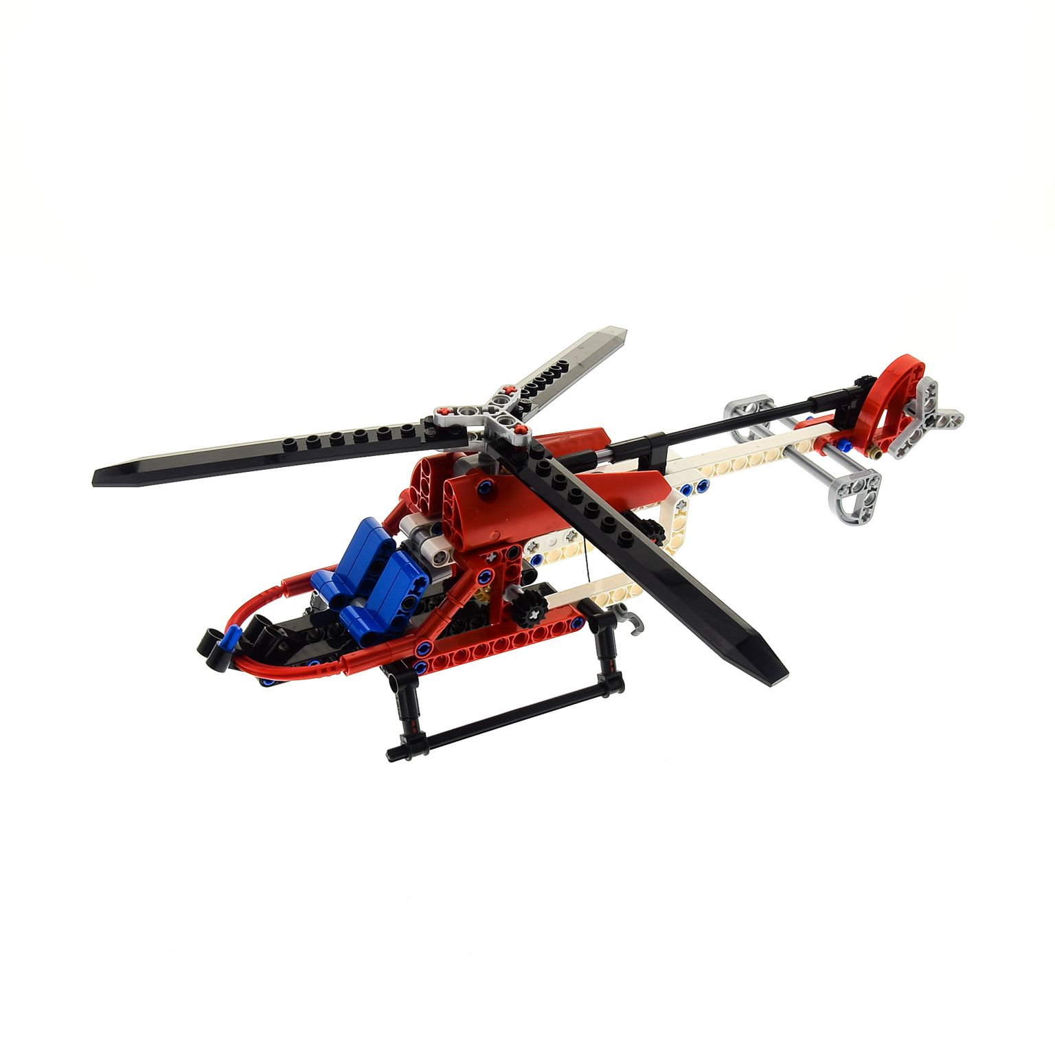 1 x lego technic set modell f r helicopter 8046 weiss rot. Black Bedroom Furniture Sets. Home Design Ideas
