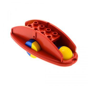 1 x Lego Duplo Primo Rassel B-Ware abgenutzt rot Klapper Roller Wippe Baby Räder blau gelb Baustein x1316c02