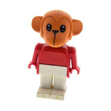 1 x Lego Fabuland Figur Tier Affe dunkel orange Monkey 5 Schlagzeuger Gabriel Torso rot Beine weiss 3713 3631 fab8e