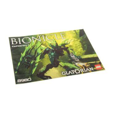1 x Lego Bionicle Bauanleitung  A5  für Set Glatorian Gresh 8980