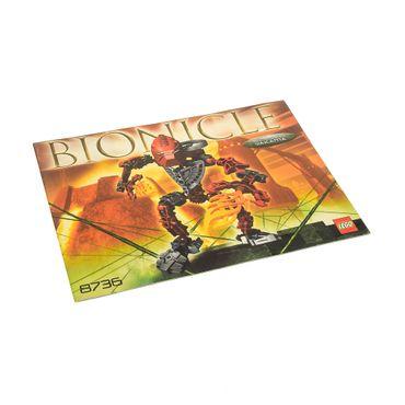1 x Lego Bionicle Bauanleitung A5 für Set Toa Hordika Vakama 8736
