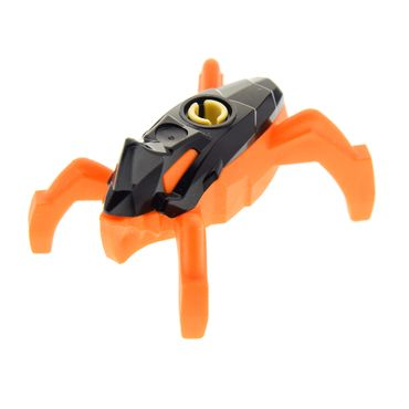 1 x Lego brick figure Bionicle  Hero Factory Jumper 2 (Black Top / Orange Base) 44028 44017 44019 hf008