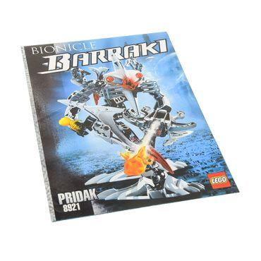 1 x Lego Bionicle Bauanleitung A5  für Set Barraki Pridak 8921
