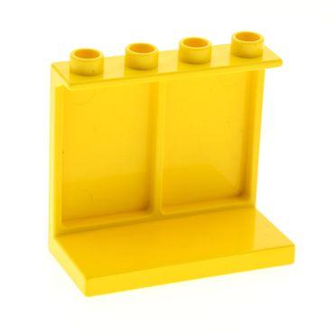 1 x Lego Duplo Möbel Regal gelb 4x2x2 Bücher Waren Panele Wand für Puppenhaus Schule Laden Set 2640 duppanel