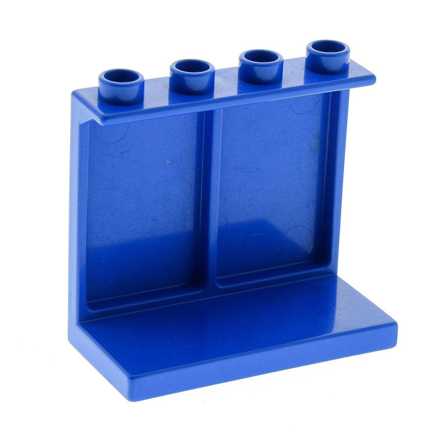1 x lego duplo m bel regal blau 4x2x2 b cher waren panele. Black Bedroom Furniture Sets. Home Design Ideas