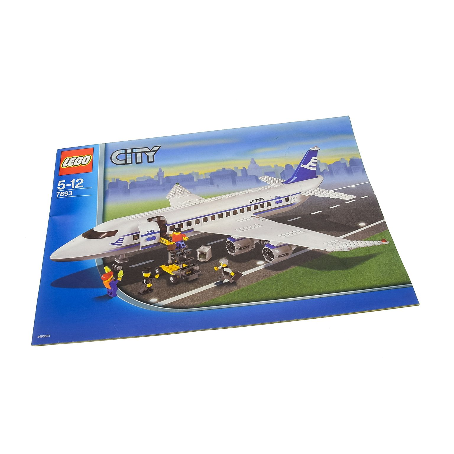1 X Lego Brick Instructions Town City Airport Passenger Planer
