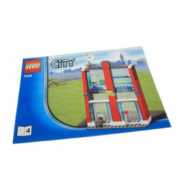 1 x Lego System Bauanleitung A4 Heft 4 für Set Stadt Feuerwehr Station 7208