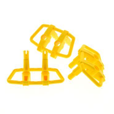 3 x Lego System Stoßstange Kühler Grill gelb 6 x 4 x 3 6x4x3 Kuhfänger Rammschutz 30632