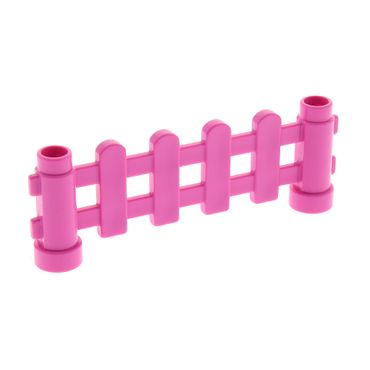 1 x Lego brick dark pink Duplo Fence 1 x 6 x 2 Paled (Picket) Set 6152 6497
