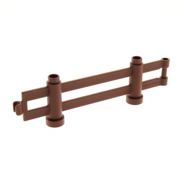 1 x Lego brick reddish brown Duplo Fence 1 x 10 x 2 Interlocking 47548