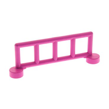 1 x Lego brick dark pink Duplo Fence Railing with 5 Posts Set 2792 9168 2214