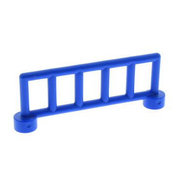 1 x Lego brick blue Duplo Fence Railing with 6 Posts 12602