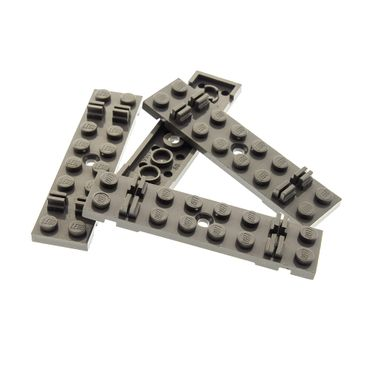 4 x Lego brick Dark bluish Gray Train Track Sleeper Plate 2 x 8 with Cable Grooves 7727 7823  7745 7735 4166