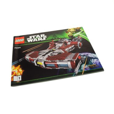 1 x Lego brick Star Wars Jedi Defender-class Cruiser Booklet 1 75025