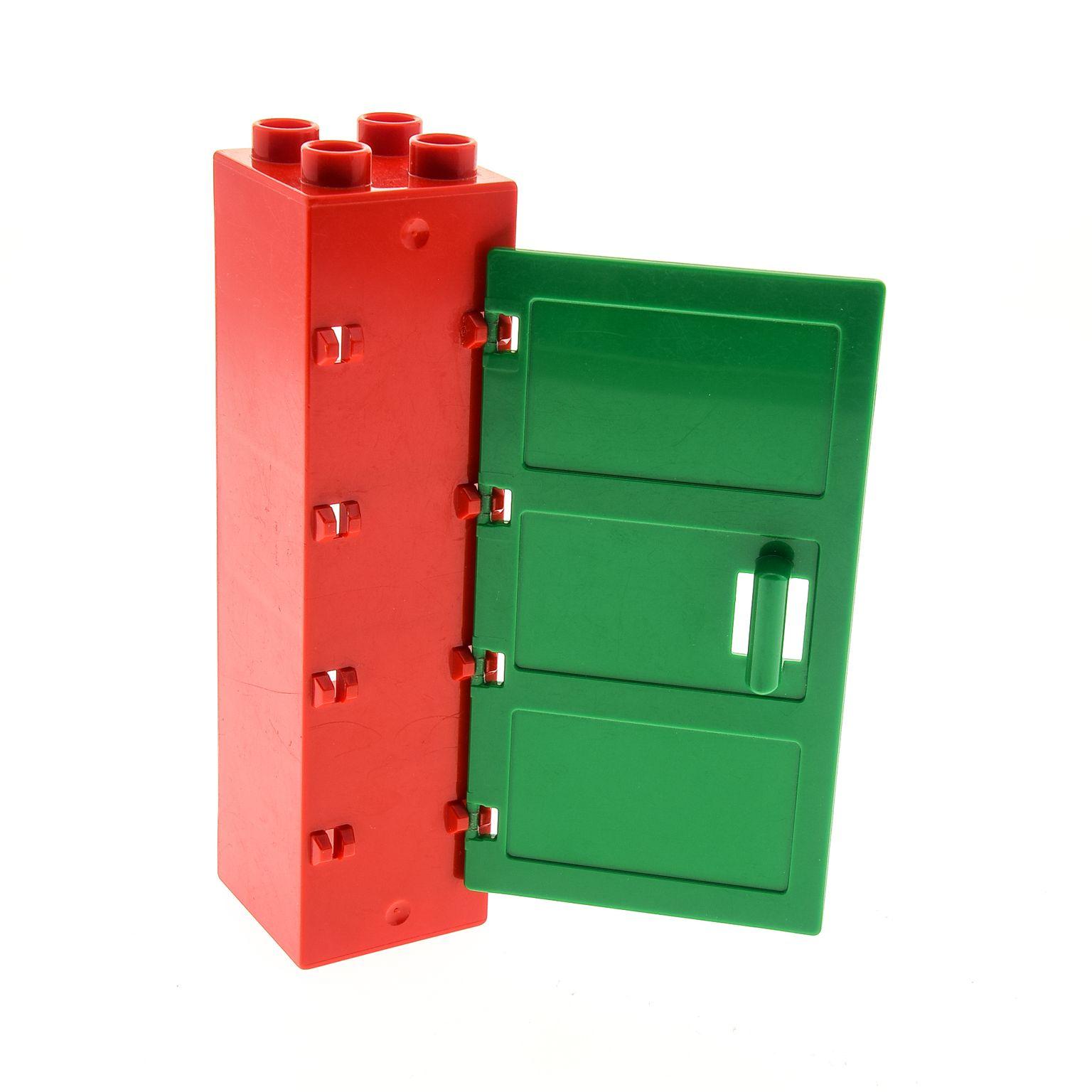1 x Lego Duplo Möbel Regal rot 2x2x6 Schrank Tür Säule Tor Rahmen ...