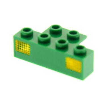 1 x Lego System Licht Stein grün  1x4 Halter mit Scheinwerfer Zug Lampe Prisma transparent gelb für Set 7898 2919 2928