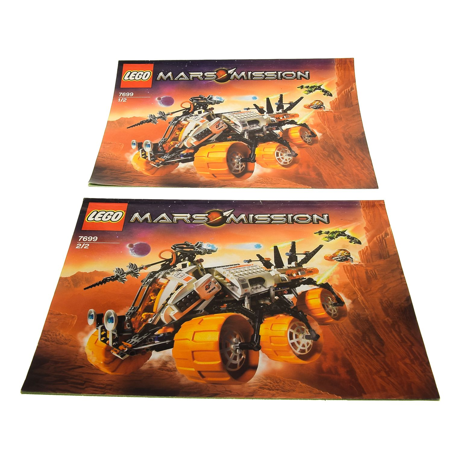 LEGO/DUPLO Spezialist | 2 x Lego brick Instructions Mars Mission MT 101  Armored Drilling Unit Booklet 1 and 2 7699