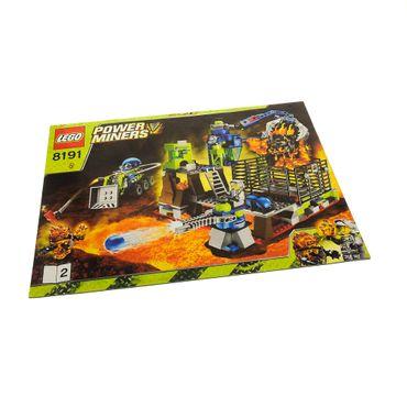 1 x Lego System Bauanleitung A4 Heft 2 Power Miners Lava Gefängnis 8191