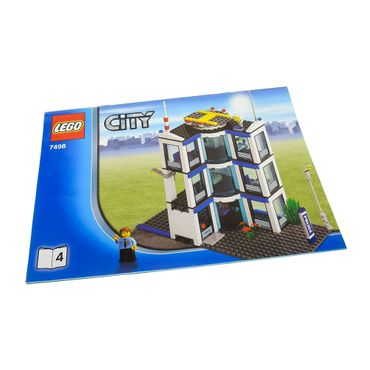 1 x Lego System Bauanleitung A4 Heft 4 Town City Police Station Polizei Station 7498