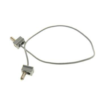 1 x Lego  System Electric einfach Kabel neu-hell grau 26 Noppen lang 12V / 4.5V zwei 1 Pin ein polig Stecker alt-hell grau Verbinder Eisenbahn Strom Elektrik geprüft 765c26*