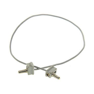 1 x Lego  System Electric einfach Kabel alt-hell grau 28 Noppen lang 12V / 4.5V zwei 1 Pin ein polig Stecker alt-hell grau Verbinder Eisenbahn Strom Elektrik geprüft 765c28*