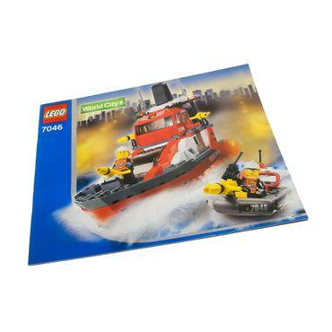 1 x Lego System Bauanleitung A4 für Set Town World City Feuerwehr Löschboot 7046