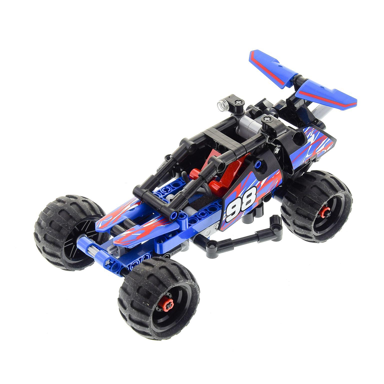 1x Lego Technic Set Modell Nr 8256 Super Kart Rennauto grün Racer unvollständig Baukästen & Konstruktion
