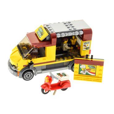 1 x Lego System Set Modell für Nr. 60150 City Pizza Van Roller Auto mit Figur incomplete unvollständig