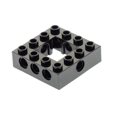 1 x Lego brick black Technic Brick 4 x 4 Open Center Set Star Wars 7662 6222427 32324