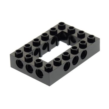 1 x Lego brick black Technic Brick 4 x 6 Open Center Set 10227 41339 7888  4144025 40344 32531