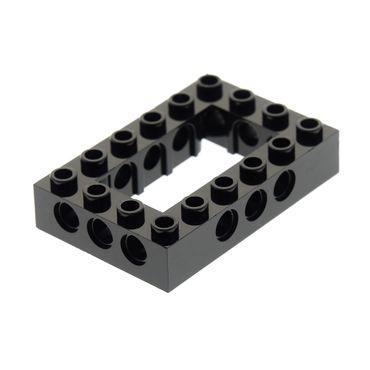 1 x Lego brick black Technic Brick 4 x 6 Open Center Set 10227 41339 7888  4144025 40344 32531
